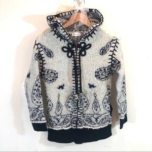 Anthropologie Sleeping on Snow Hooded Zip Sweater